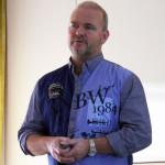 Stefan Rosén föreläste om fysträning för hundar på Guteskolan.